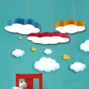 Cartoon Modern Cloud Flush Light 19.5