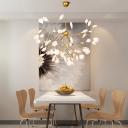 Post Modern Decoration LED Chandeliers White Firefly LED Lights for Living Room Bedroom