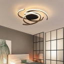 Metal LED Flush Mount Ceiling Light Modern Style Spiral Bedroom Flush Mount