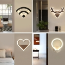 Designed Wall Lamp Contemporary Aluminum LED Sconce Light Fixture for Bedroom in Warm Light