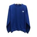 Boyish Hoodie Logo Pattern Long Sleeves Drawstring Detail Loose Sweatshirt for Guys