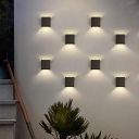 Geometric Shape LED Wall Light Designers Style Energy Efficient Metal Wall Sconce for Balcony in Warm Light