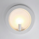 Geometric Shape Wall Mounted Lamp Simplicity LED Metal Sconce Light with Candle 1 Light for Living Room