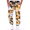 Popular Sweatpants Camo Printed Drawstring Waist Ankle Length Loose Sweatpants for Men