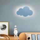 Simple Style Sconce Lamp Cloud Shape Aluminum LED Wall Light for Kindergarten