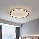 Modern Ceiling Light Circle Acrylic Shade with 1 LED Light Flush Mount Ceiling Fixture for Bedroom