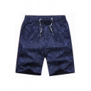 Men's Casual Shorts Plaid Patterned Drawstring Waist Pocket Detail Regular Fit Mini Shorts