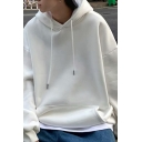 Fashionable Mens Hoodie Plain Pocket Decorated Long Sleeve Relaxed Hoodie