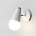Single Bulb Wall Light Nordic Style Metal Sconce Light for Living Room Bedroom