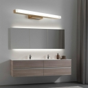 Nordic LED Bathroom Vanity Light Water and Fog Resistant Vanity Sconce for Dressing Table in Wood