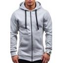 Popular Hoody Sweatshirt Hoodie Long-sleeved Kangaroo Pocket Design Drawstring Hoodie for Men
