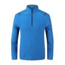 Sporty Men's Zipper Sweatshirt Solid Color Long-Sleeved Stand Collar Slim Fit Sweatshirt
