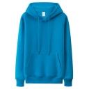 Warm Hoodie Long Sleeves Kanga Pocket Drawstring Loose Couple Hoodie for Men