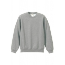 Casual Sweatshirt Pure Color Long Sleeves Round Neck Regular Fitted Sweatshirt for Men