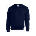 Men Edgy Sweatshirt Pure Color Long-Sleeved Crew Neck Relaxed Sweatshirt
