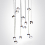 Cascade Glass Ball Pendant Light 14-Light