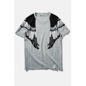 Eagle Print Military Style Boyfriend Style Short Sleeve Tee
