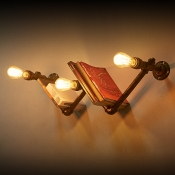 Three Light Bookshelf Shape LED Wall Light in Black Finish 28'' Wide