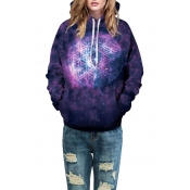 New Collection Galaxy Printed Long Sleeve Leisure Hoodie for Couple