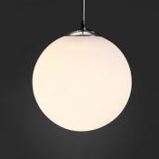 Frosted Glass Ball Pendant Light 1 Light