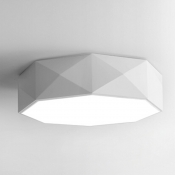 LED Modern Drum White Drum Flush Mount Light Acrylic