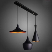 Inner Copper Black Finished Multi-Light Pendants
