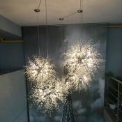 Crystal Beads Sputnik Pendant Light, 23.6 Inch