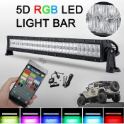 5D 32 Inch RGB Off Road LED Light Bar CREE LED 180W 30 Degree Spot 60 Degree Flood Combo Beam Car Light For Off Road, Truck, 4WD, BOAT, JEEP