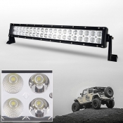 3C 22 Inch Off Road LED Light Bar CREE LED 120W 30 Degree Spot 60 Degree Flood Combo Beam Car Light For Off Road 4WD Jeep Truck ATV SUV Boat