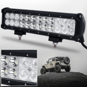 12 Inch Off Road LED Light Bar CREE LED 72W 30 Degree Spot 60 Degree Flood Combo Beam Car Light For Off Road, Truck, 4WD, BOAT, JEEP