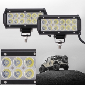7 Inch Off Road LED Light Bar 36W 60 Degree Spot Beam Car Light For Off Road, Truck, 4WD, BOAT, JEEP, Pack of 2
