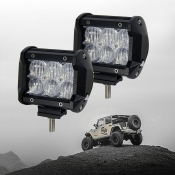 5D 4 Inch Off Road LED Light Bar CREE LED 18W 60 Degree Flood Beam Car Light For Off Road, Truck, 4WD, BOAT, JEEP, Pack of 2