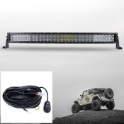 5D 32 Inch Off Road LED Light Bar CREE LED 180W 30 Degree Spot 60 Degree Flood Combo Beam Car Light For Off Road 4WD Jeep Truck ATV SUV with 1 Wire Harness