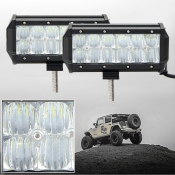 5D 7 Inch Off Road LED Light Bar CREE LED 36W 60 Degree Flood Beam Car Light For Off Road, Truck, 4WD, BOAT, JEEP, Pack of 2