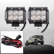 4 Inch Off Road LED Light Bar CREE LED 18W 60 Degree Flood Beam Car Light For Off Road, Truck, 4WD, BOAT, JEEP, Pack of 2