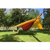 Lightweight Tear Resistant Camping Hammock with Rain Fly, Tree Straps