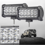 7 Inch Off Road LED Light Bar 54W 60 Degree Flood Beam Car Light For Off Road, Truck, 4WD, BOAT, JEEP, Pack of 2