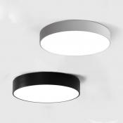 Black Finished LED Round Flush Mount Light Modern, 7 Lights