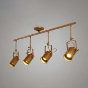 Gold Finished Four Light 39'' Wide Large LED Spotlight