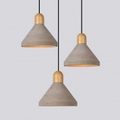Industrial Pendant Light with 9.65''W Cement Shade