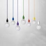 Industrial Silicone Multi Color Pendant Light Vintage Edison Bulb 1 Light Hanging Light