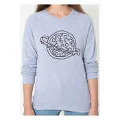 Pizza Planet Printed Round Neck Long Sleeve Sweatshirt