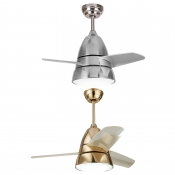 Brushed Nickle/Brass Indoor Ceiling Fan Light Globes 10.24 Inch Wide LED with 3 Blade