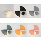 Adjustable Cup Shade Wall Lighting Black Nordic Study Room Metal 1 Head Wall Light Fixture