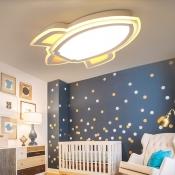 Simple Style LED Light Cartoon Rocket Shape Ceiling Light for Kids Room