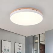 Wood Decoration LED Halo Ceiling Flush Light 11.8
