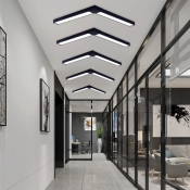 Modern Architectural Linear Fixture Black Finish Led Linear Flush Mount Light 16-20W White Light 6000K LED Down Lighting Mounted Lights for Office Conference Room Hallway Garage