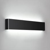 Art Deco Wall Light Black Finish Brushed Aluminum Led Linear Wall Sconce Modern Led Indirect Lighting for Bedroom Reading Room Stairways Corridor