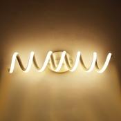 Bathroom Wall Lighting White Aluminum Spiral LED Vanity Light 11/15/20W 13