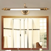 Bathroom Shower Lights Antique Brass Linear Vanity Light 8/10/12W LED Warm White Neutral Vintage Wall Sconces in Acrylic Shade (18.90